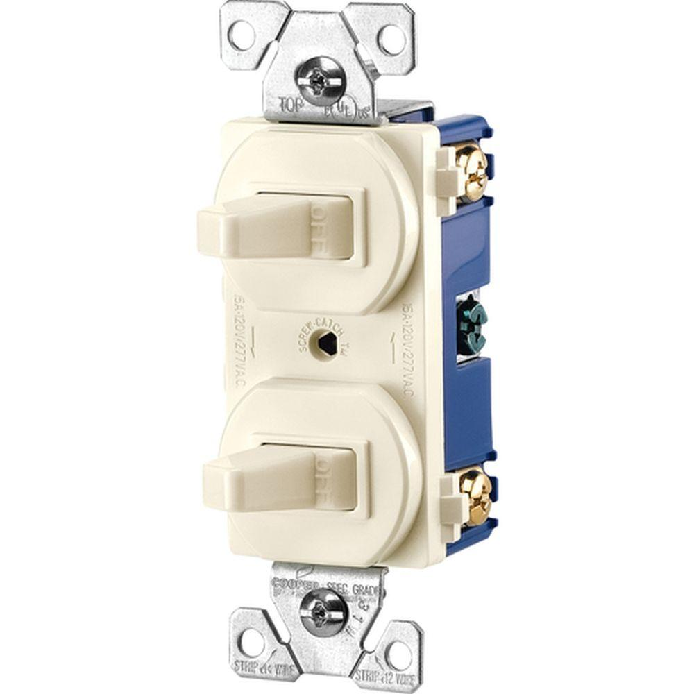White 0 Electrical Outlets Receptacles Wiring Devices Smartlockpro Outlet Branch Circuit Arcfault Interrupter Commercial Grade 15 Amp Single Pole 2 Toggle Switches With Back