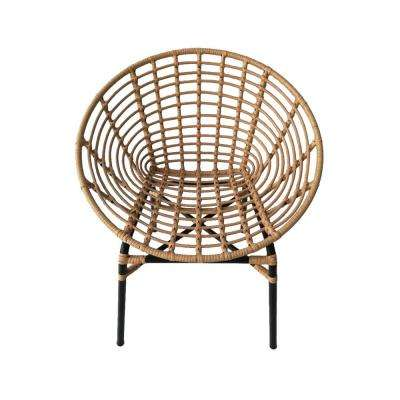 31 in. Natural Brown Metal Chair