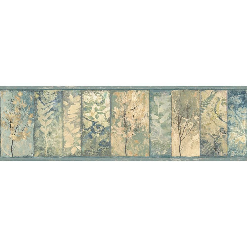 Chesapeake Lillinonah Foliage Wallpaper Border Tll01551b