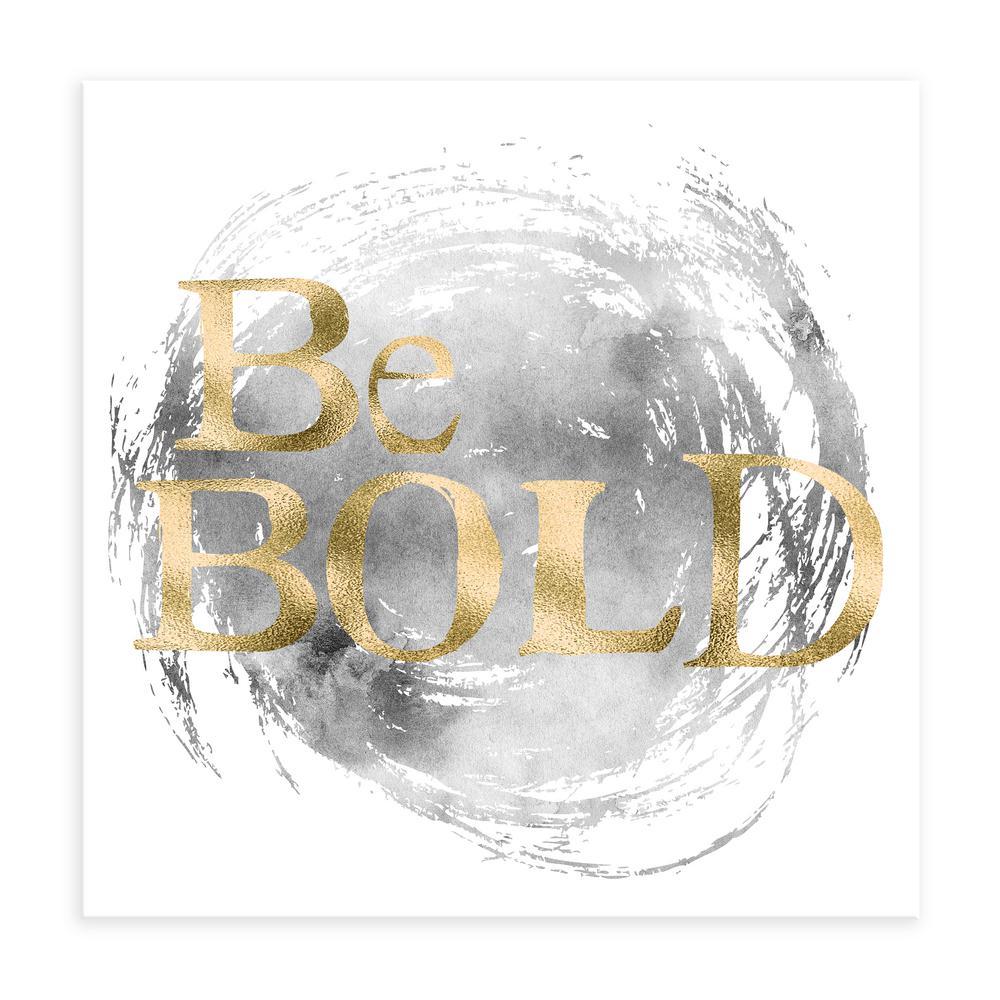"""Be Bold"" by Nikki Chu Embellished Canvas Wall Art"