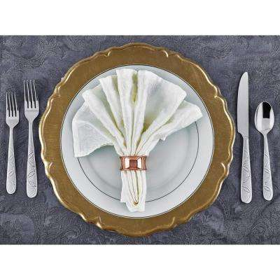 13 in. Dia Reflection Gold Charger Plates (Set of 8)