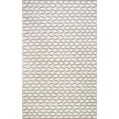 Outdoor Striped Yasmin Ivory 2 ft. 6 in. x 8 ft. Runner