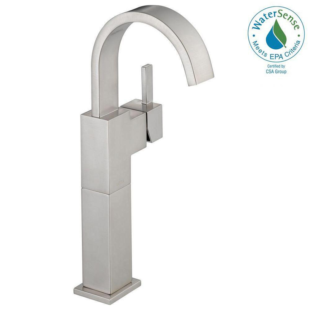 Delta Vero Single Hole Single-Handle Vessel Bathroom Faucet in Stainless