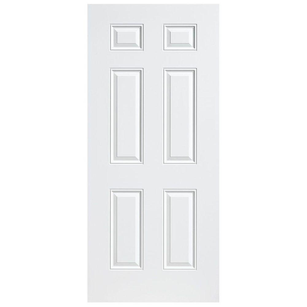 Utility 6-Panel Left Hand Outswing Primed  sc 1 st  Home Depot & Masonite 32 in. x 80 in. Utility 6-Panel Left Hand Outswing Primed ...