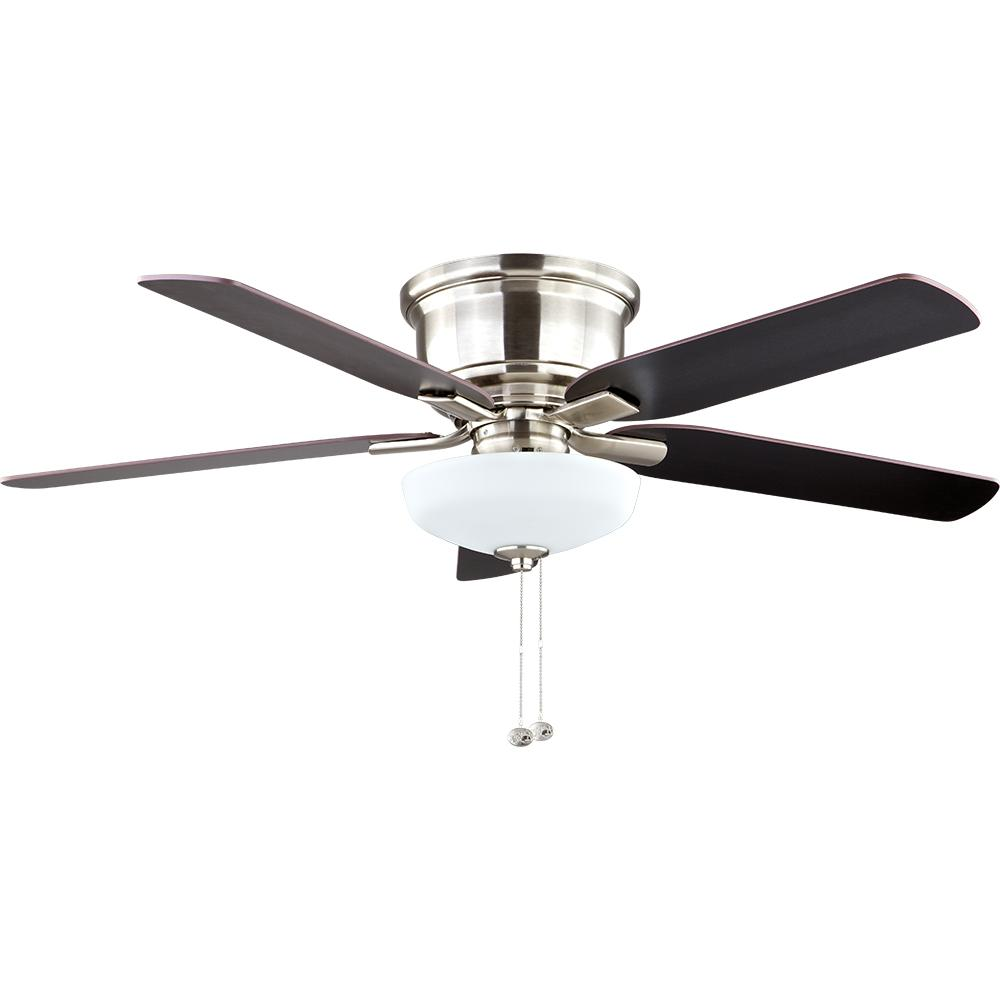 Hampton bay holly springs low profile 52 in led indoor brushed hampton bay holly springs low profile 52 in led indoor brushed nickel ceiling fan with light kit 57289 the home depot aloadofball Gallery