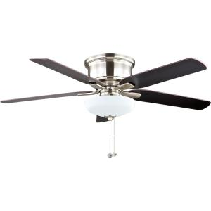 Hampton Bay Holly Springs Low Profile 52 inch LED Brushed Nickel Ceiling Fan by Hampton Bay