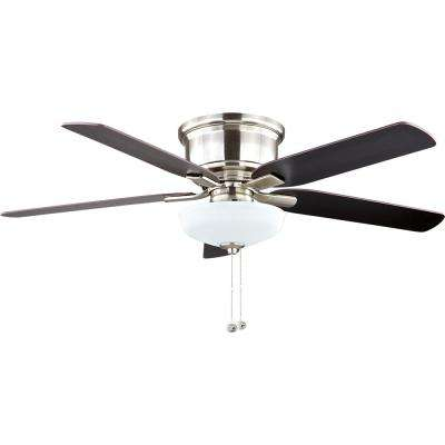 Holly Springs Low Profile 52 in. LED Brushed Nickel Ceiling Fan