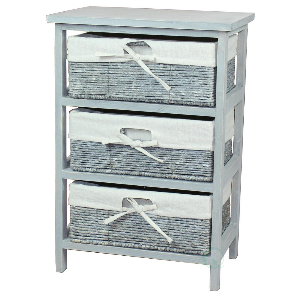 Vintiquewise 1575 in x 23 in Rustic Gray Wooden Storage Cabinet