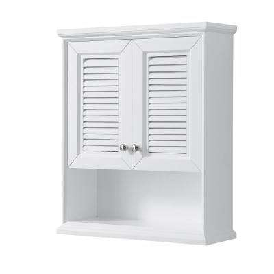 Tamara 25 in. W x 9 in. D Bathroom Storage Wall Cabinet in White