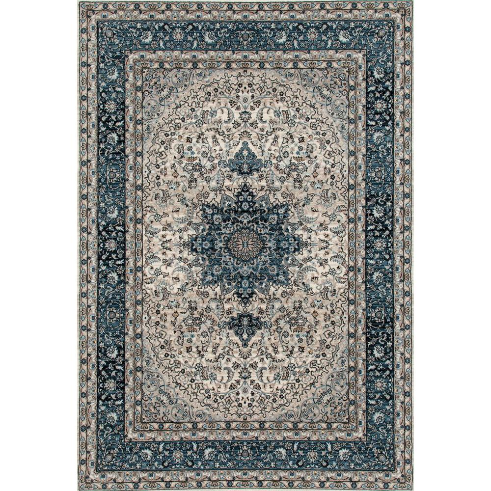 World Rug Gallery Traditional Oriental High Quality Blue Medallion Design 5 Ft X 7