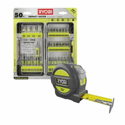 Impact Rated Driving Kit (50-Piece) with BONUS 25FT Tape Measure