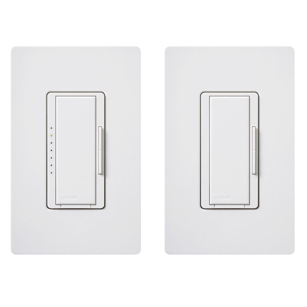 white lutron dimmers macl 153m rhw wh 64_1000 lutron maestro 150 watt multi location digital cfl led dimmer kit lutron macl 153m wiring diagram at gsmx.co