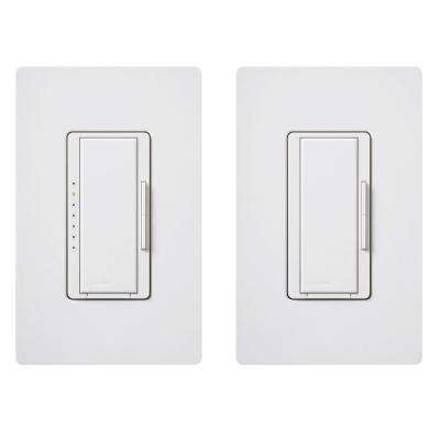 Maestro C.L Dimmer Switch Kit for Dimmable LED, Halogen and Incandescent Bulbs, 3-Way or Multi-Location, White