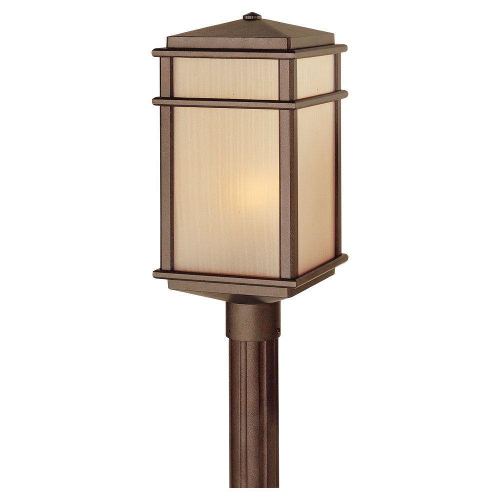 Mission Lodge 1-Light Corinthian Bronze Outdoor Post Light