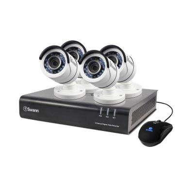 4-Channel TVI 720P DVR with 500GB Hard Drive and 4 x T845 Bullet White Camera