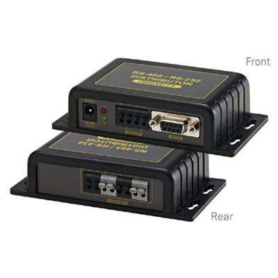 2-In-1 and 4 Out RS-485 Data Distributor and Converter in Black
