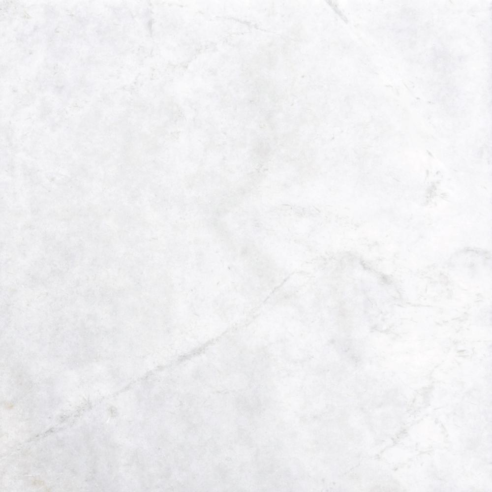 Msi greecian white 12 in x 12 in polished marble floor for Black and white marble bedding