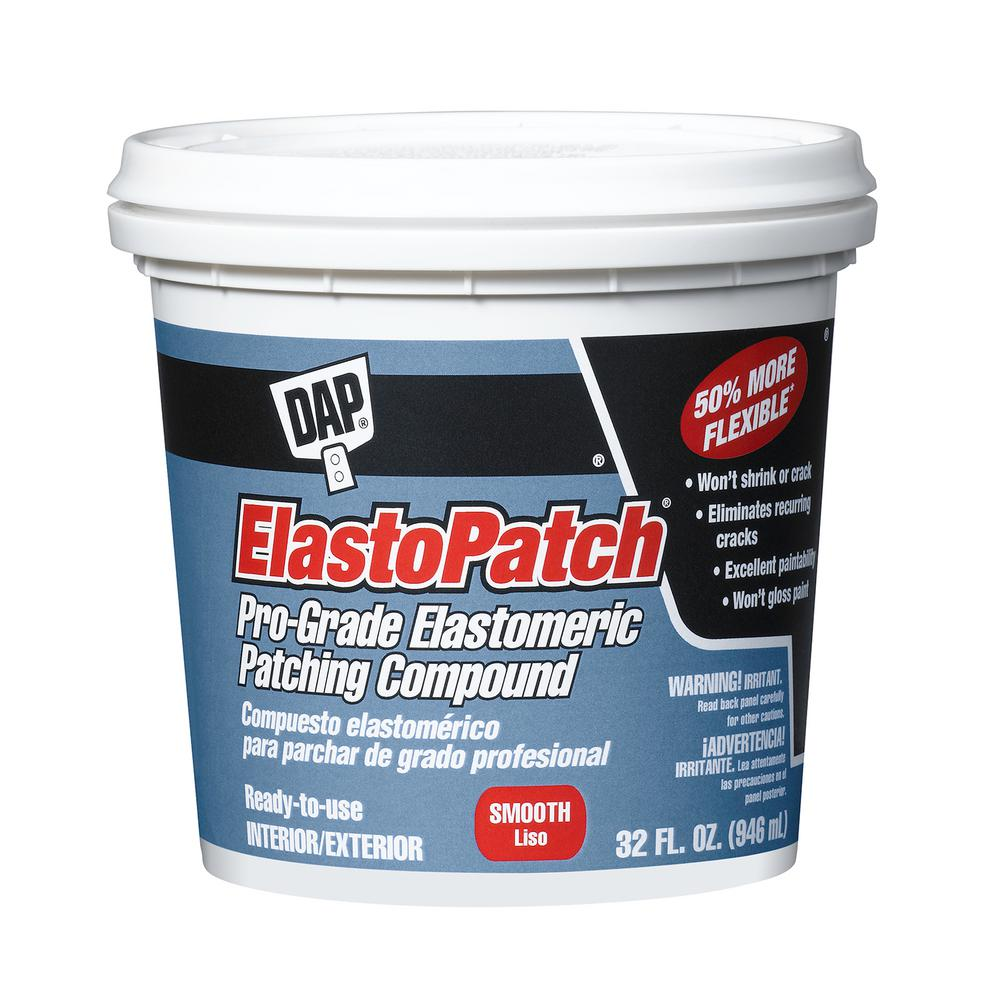 Dap Elastopatch 32 Oz Smooth White Flexible Patching Compound 12277 The Home Depot