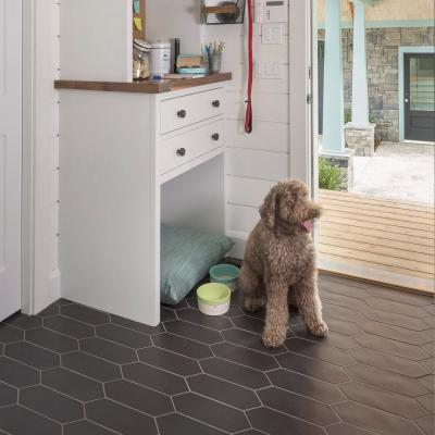 Kite Black 4 in. x 11-3/4 in. Porcelain Floor and Wall Subway Tile (11.81 sq. ft. / case)
