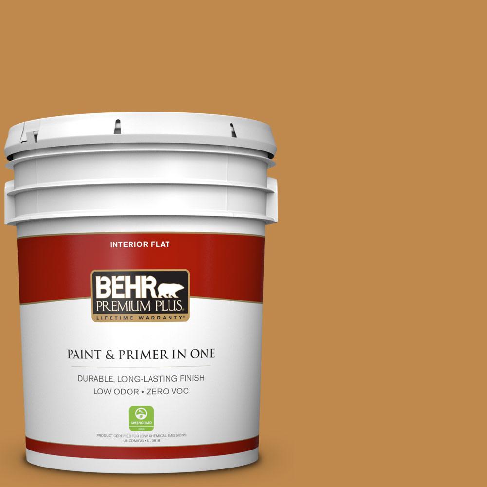 5 gal. #M250-6 Toffee Tart Zero VOC Flat Interior Paint