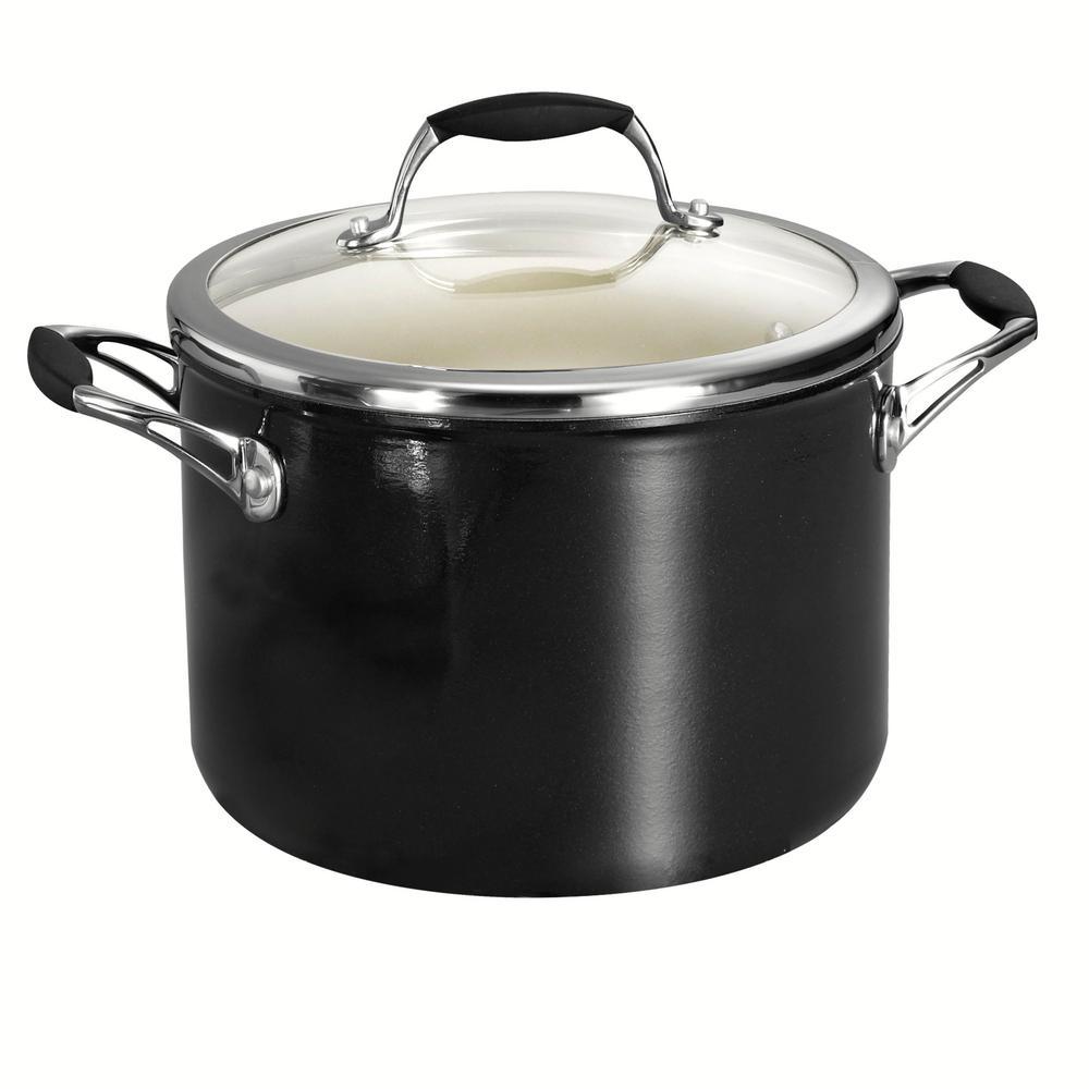 Gourmet Ceramica Deluxe 6 Qt. Aluminum Stock Pot with Lid