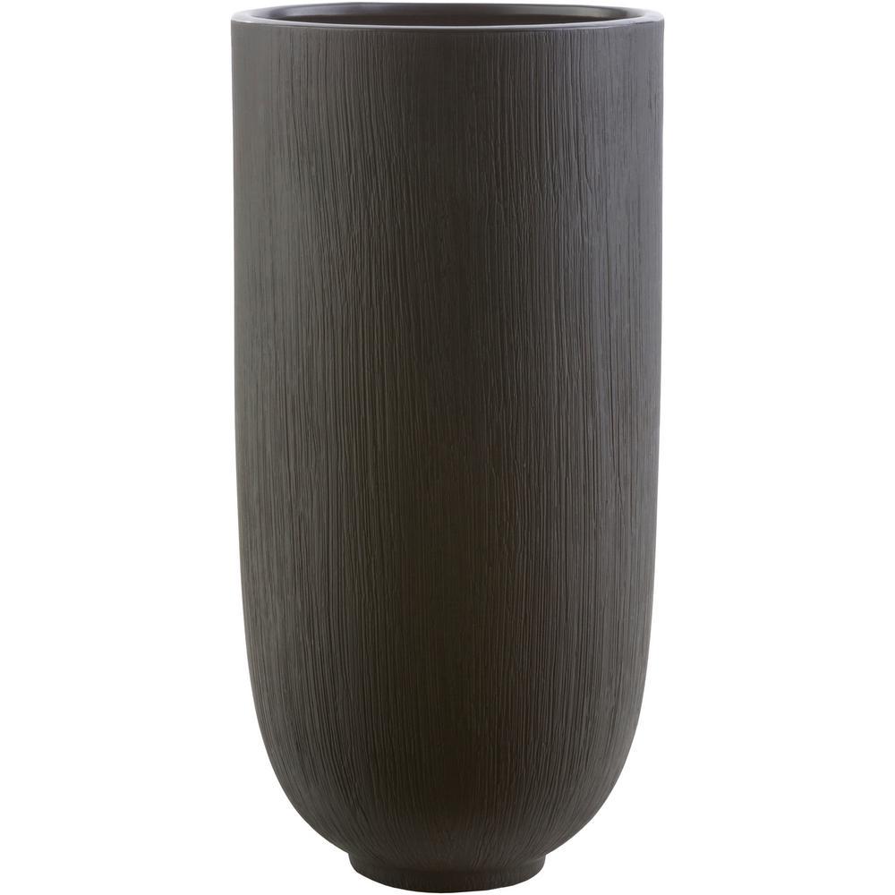 Notiko 13.58 in. Black Ceramic Decorative Vase