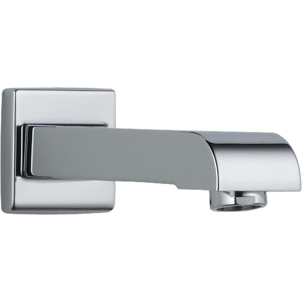 delta arzo and vero 7 in metal non diverter tub spout in chrome