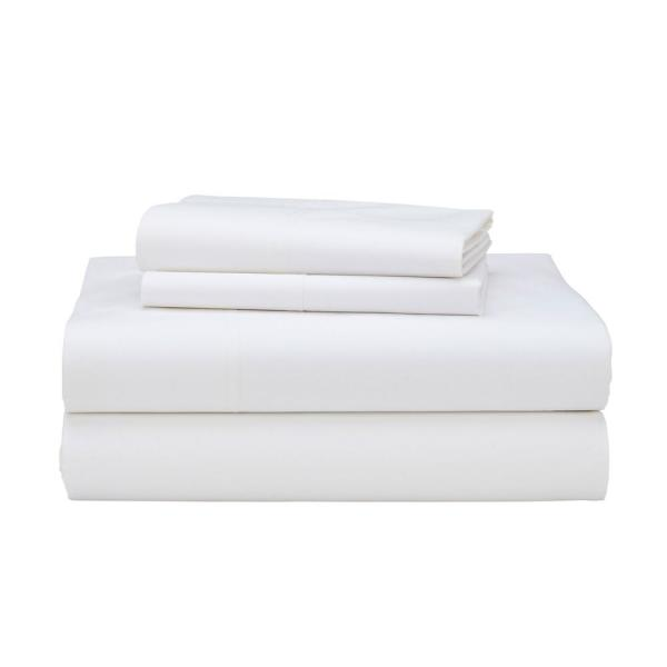 The Company Store 4-Piece 400-Thread Count Supima Cotton Percale King Extra