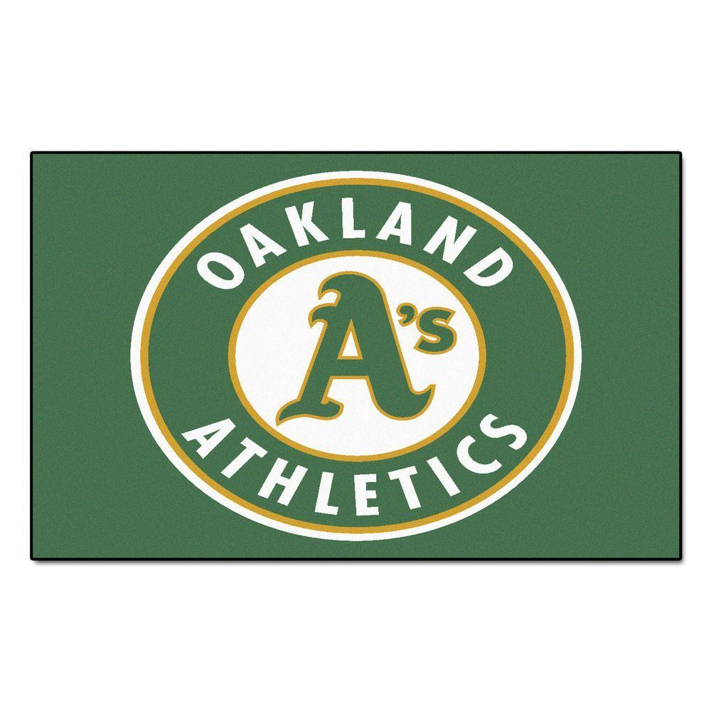 Fanmats Oakland Athletics 5 Ft X 8 Ft Ulti Mat 6413