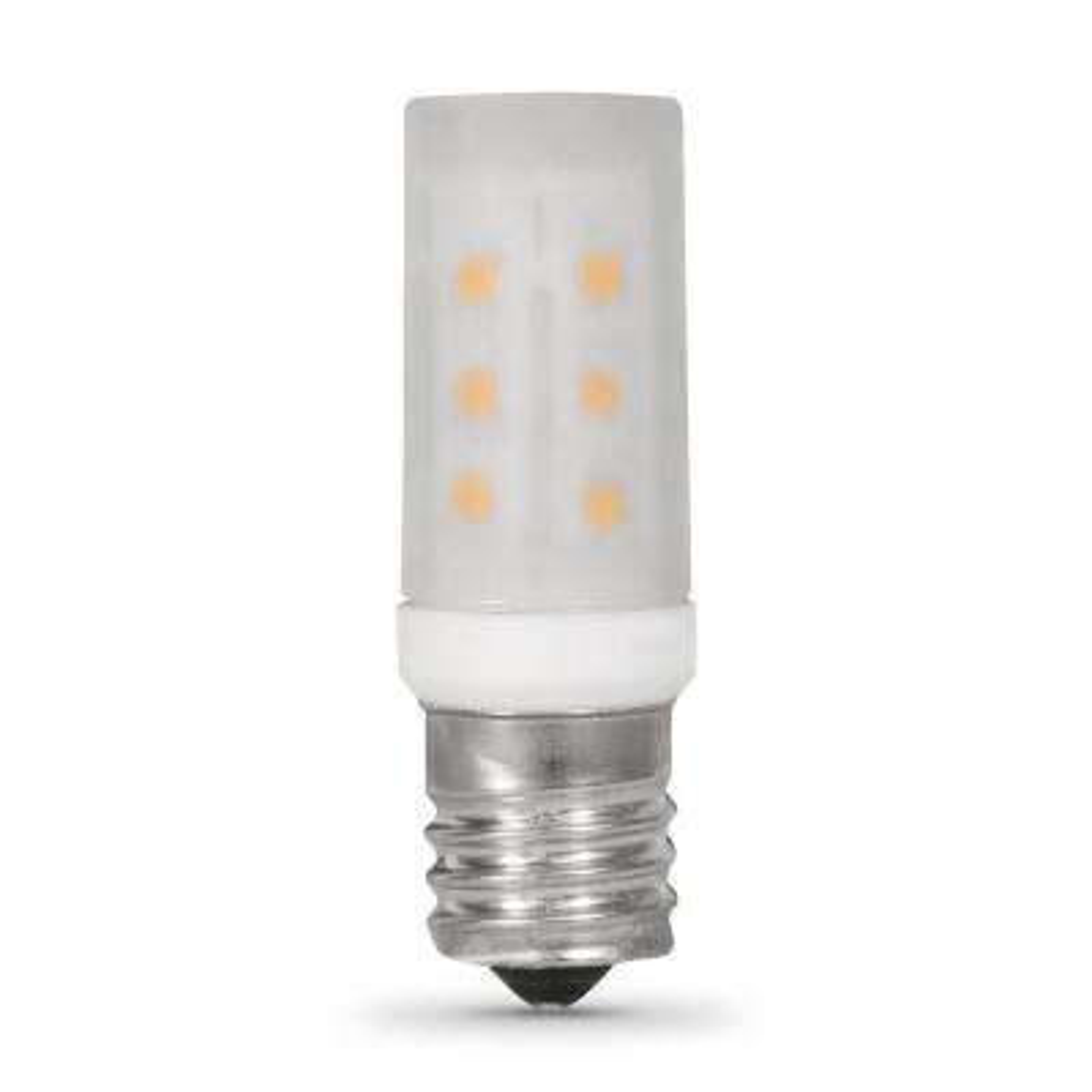 3.5-Watt T8 E17 Base LED Microwave Light Bulb Bright White 3000K (6-Pack)