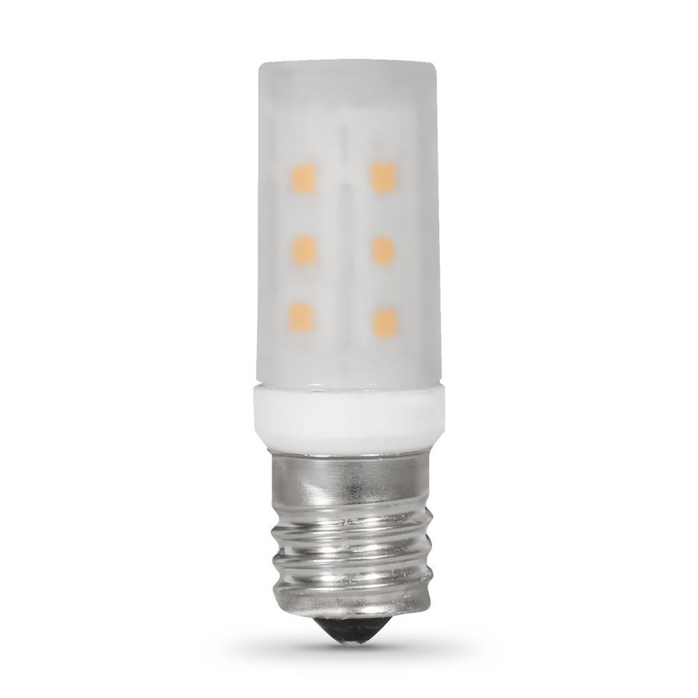 3.5-Watt T8 E17 Base LED Microwave Light Bulb Bright White (3000K)