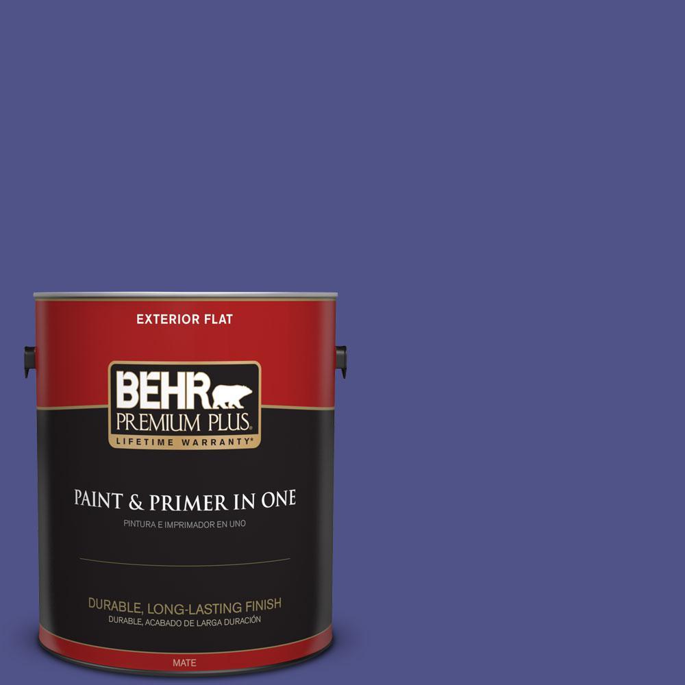 1-gal. #P550-7 Purple Prince Flat Exterior Paint