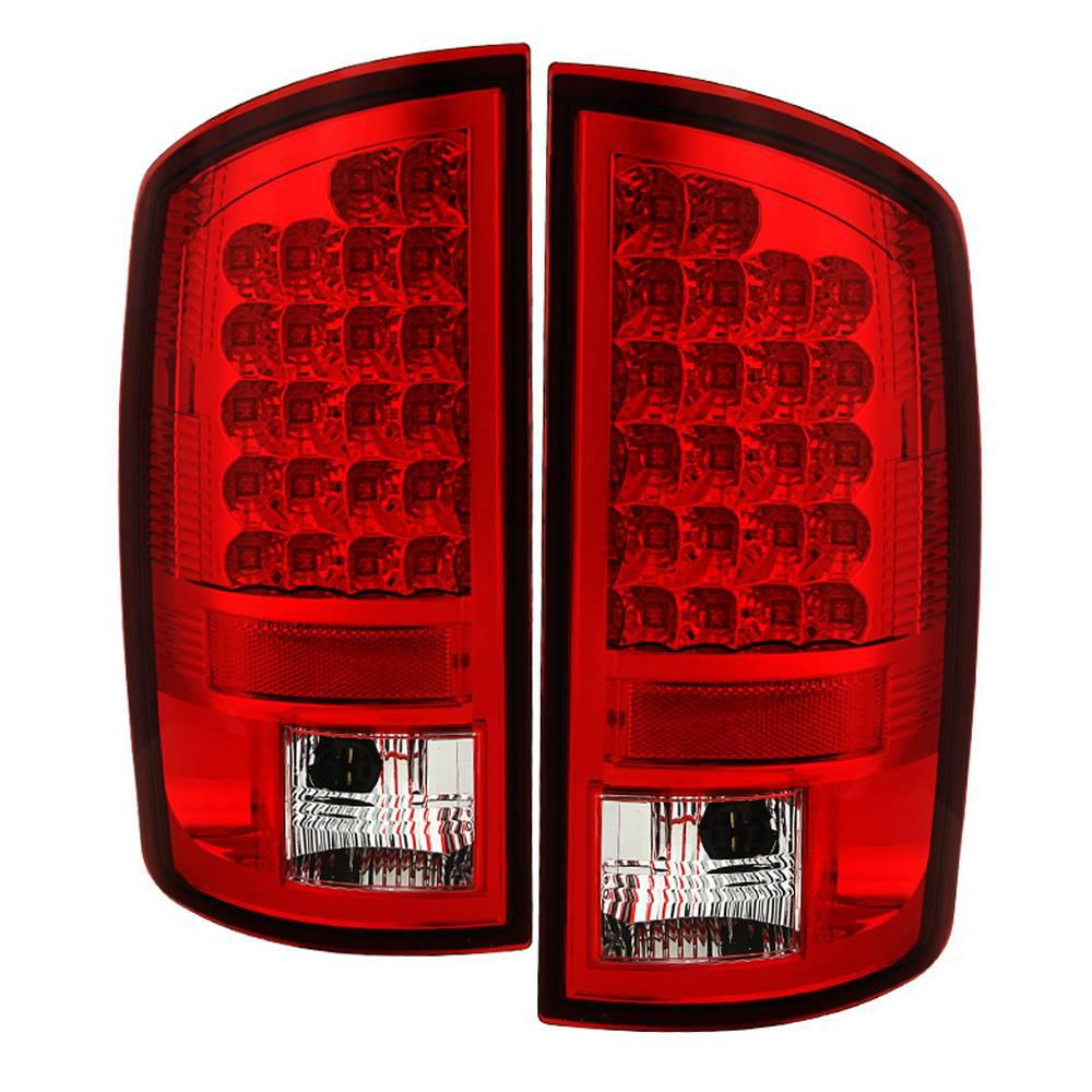 Dodge Ram 02 06 1500 2500 3500 03 Led Tail Light Red Clear