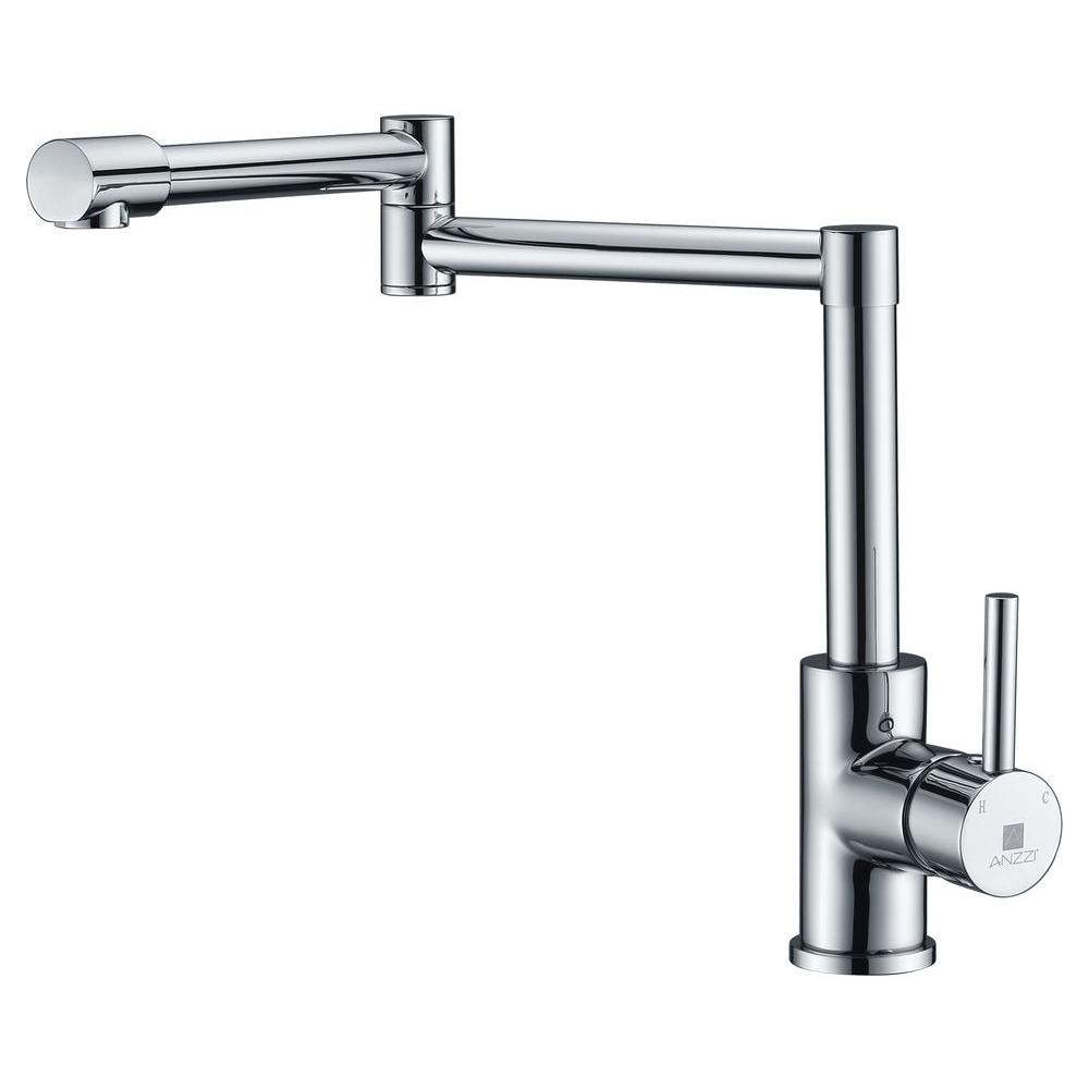ANZZI Manis Series Deck-Mounted Pot Filler in Polished Chrome