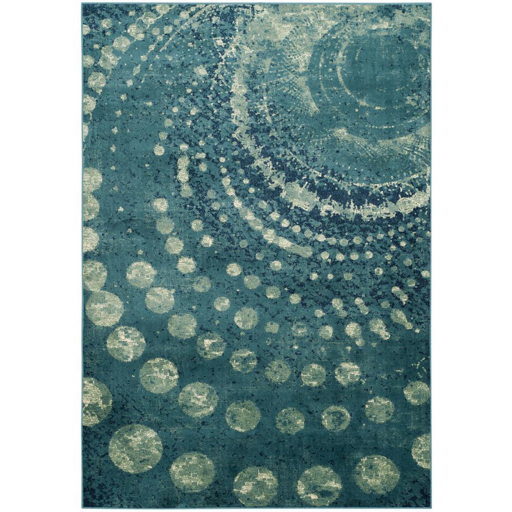 Safavieh Restoration Vintage Ivory Turquoise 8 Ft X 10 Ft: Safavieh Constellation Vintage Turquoise/Multi 8 Ft. 10 In