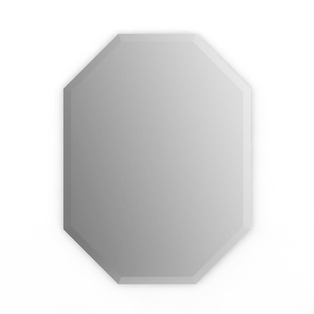 Delta 22 in. x 30 in. (M2) Octagonal Frameless Standard Glass Mirror ...