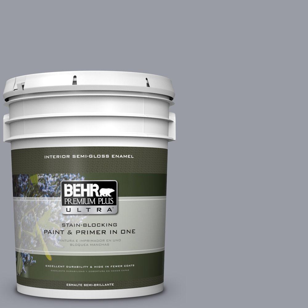 5 gal. #PPU26-20 Smokey Lilac Semi-Gloss Enamel Interior Paint