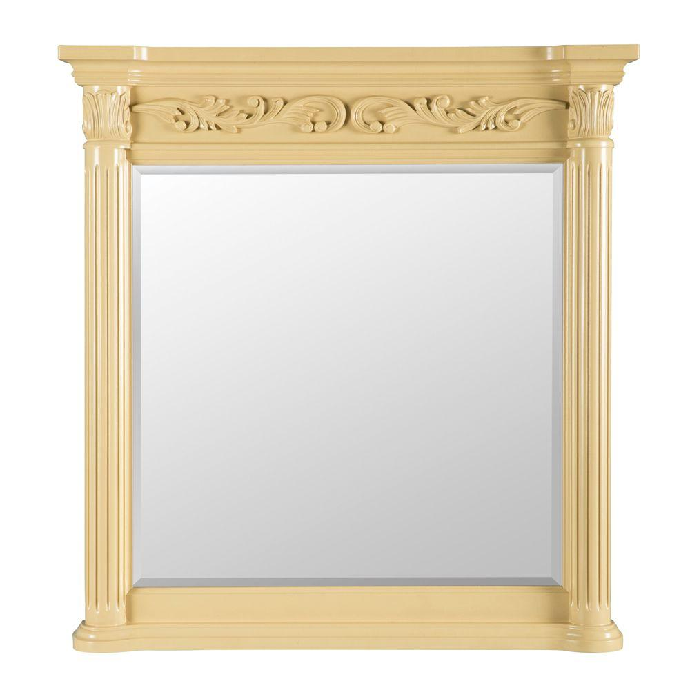 Belle foret estates 38 in l x 36 in w wall mirror in for 4 x 5 wall mirror