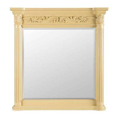 Estates 38 in. L x 36 in. W Wall Mirror in Antique White