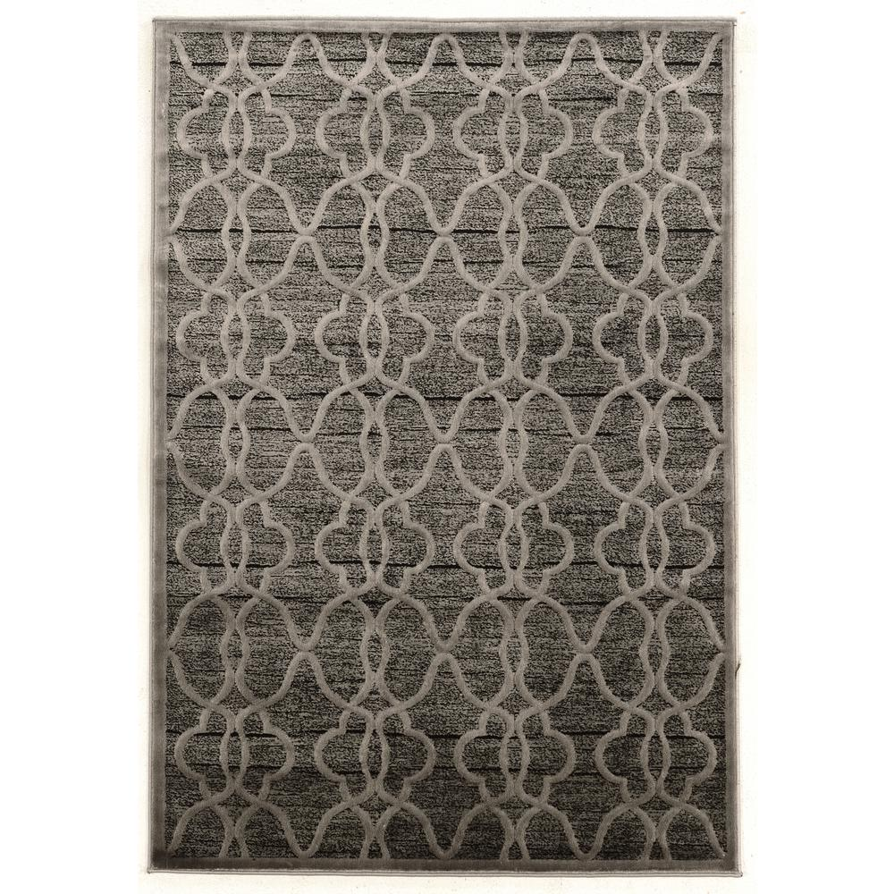 Platinum Raw Gray and Black 2 ft. x 3 ft. Indoor