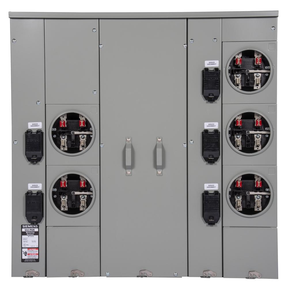 Siemens uni pak 5 gang 400 amp ringless style multi family metering siemens uni pak 5 gang 400 amp ringless style multi family metering keyboard keysfo Gallery