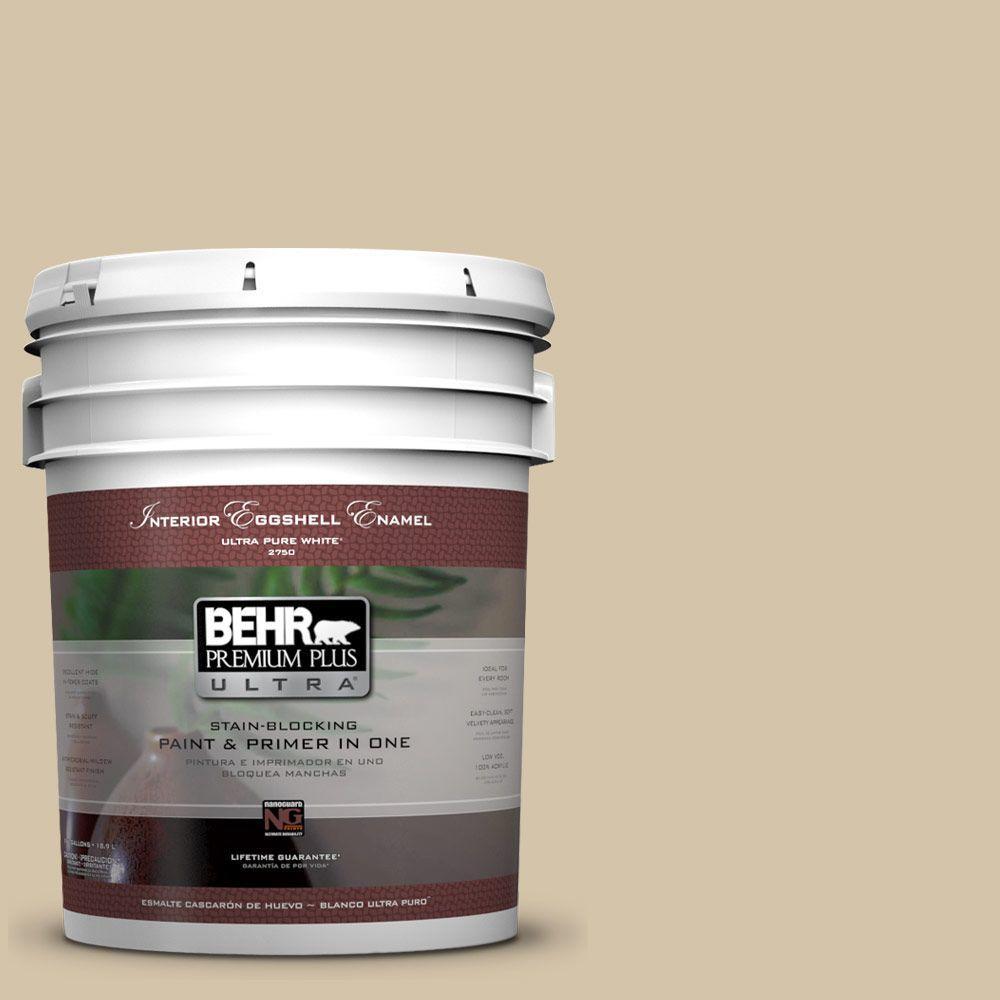 BEHR Premium Plus Ultra 5-gal. #ICC-60 Brown Bread Eggshell Enamel Interior Paint