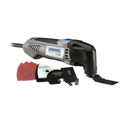 Multi-Max 2.3 Amp Variable Speed Corded Oscillating Multi-Tool Kit with 7 Accessories and Storage Bag