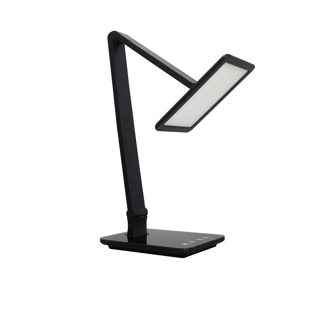 17-1/2 in. Black Adjustable Color Temperature LED Desk Lamp with USB