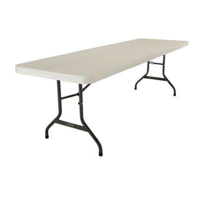 Almond 8 ft. Folding Table