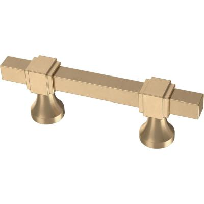 Adjusta-Pull  1-3/8 in. To 4 in. (35 mm/102 mm) Champagne Bronze Stepped Square Pull