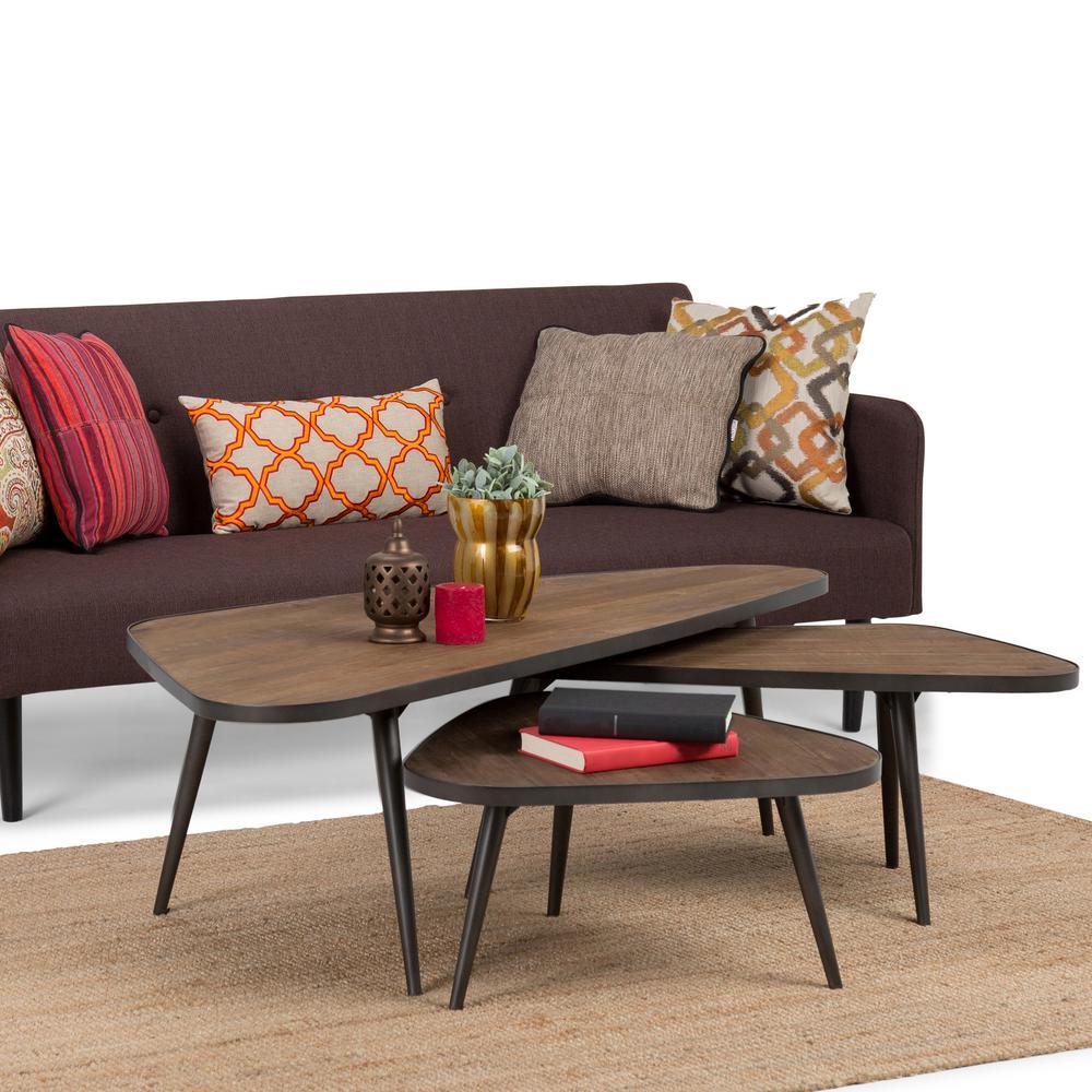 f70f92ce7b1f Simpli Home Aubrey Distressed Wood 3-Piece Nesting Coffee Table Set ...