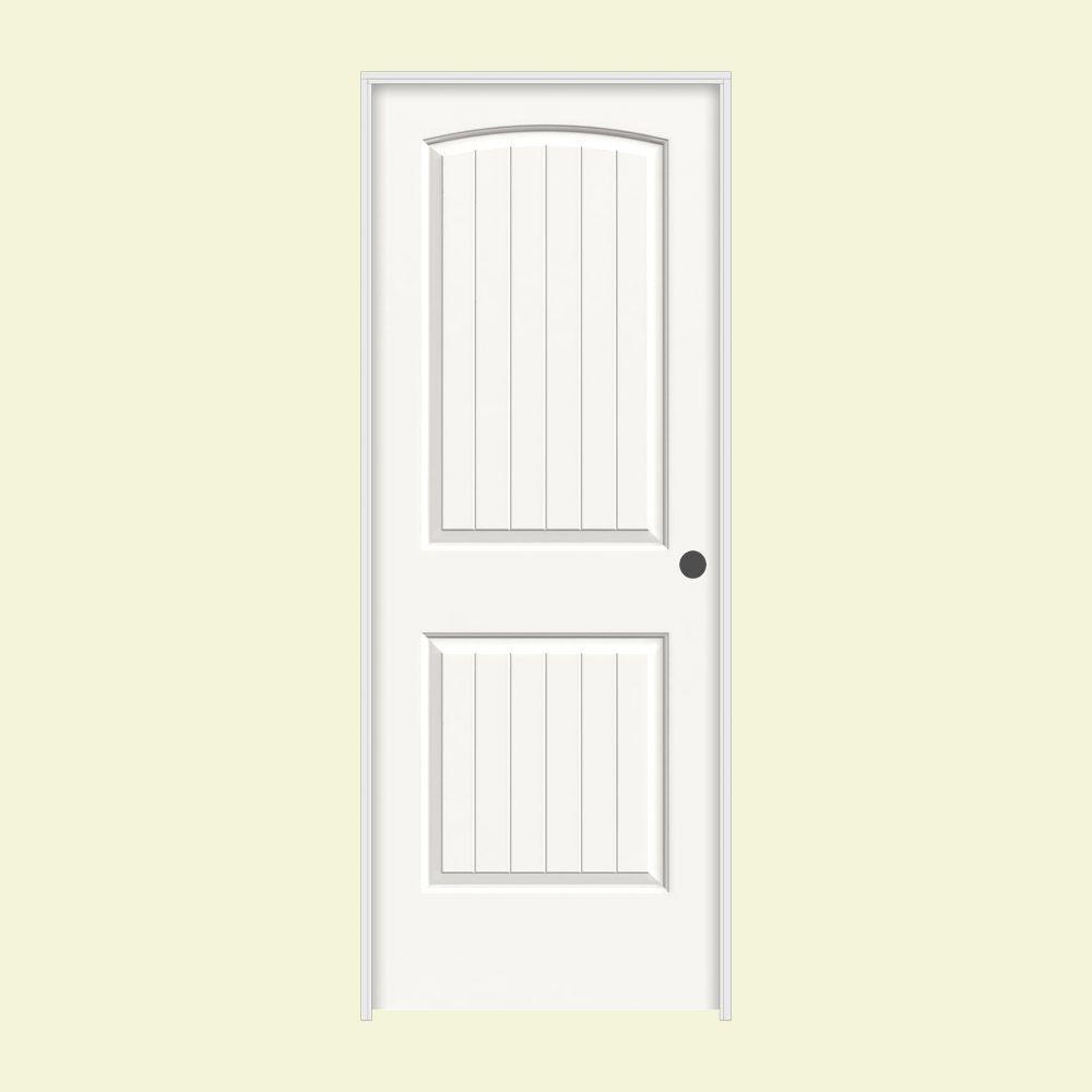 JELD-WEN 30 in. x 80 in. Santa Fe White Painted Smootht Molded Composite MDF Interior Door Slab
