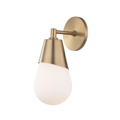 Cora 1-Light Aged Brass Wall Sconce