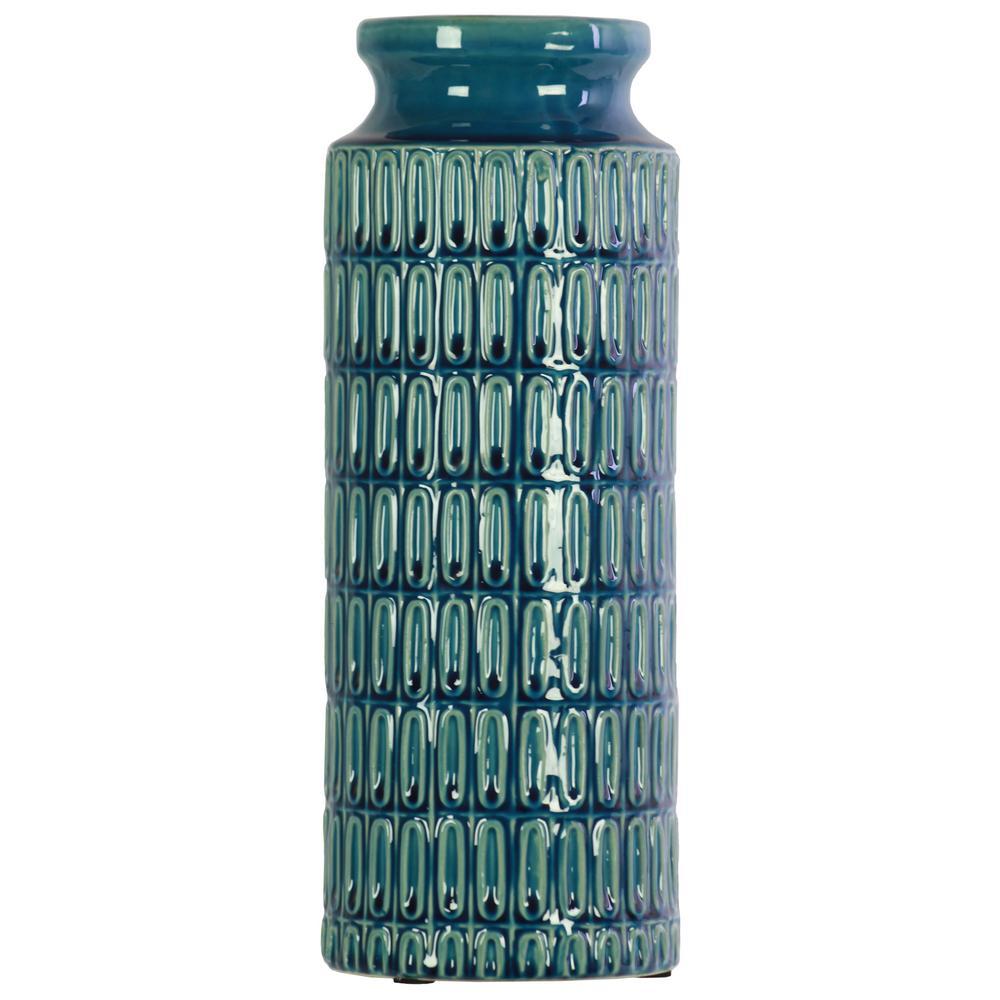 Blue Coated Finish Ceramic Decorative Vase